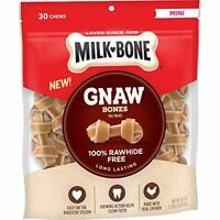 Milk-Gnaw Rawhide Free Chew Treats for Dogs, Chicken, 30 Mini Knotted