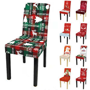 Stretchy Chair Cover 1PC Dining Seat Elastic New Year Christmas Banquet Party