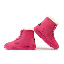 Women's Winter Warm Suede Ankle Snow Boots Thicken Fur Ski Flats Casual Shoes