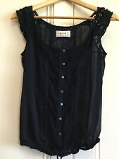 Abercrombie And Fitch Ladies Short Sleeve Top Small Navy