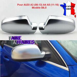 Coques de rétroviseur gris mat AUDI A5 S5 RS5 8T Sportback Cabriolet #0