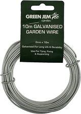 10M Galvanised Garden Wire 1.5mm Green Jem Garden