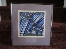 Roderick Locklear Lumbee indian 1987 NC signed original watercolor blanket