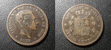 España - Alfonso XII - 5 centimos 1879 OM - KM#674