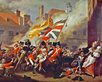 American Revolutionary War British Soldiers Painting Fine Art Real Canvas Print