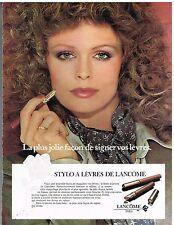 Publicité Advertising 1980 Cosmétique maquillage Stylo Lancome