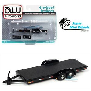 Auto World 1:64 - Open Trailer (Black) AWSP071-B