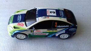 CARRERA GO !!! FORD FOCUS WRC RALLY CAR MARCOS GRONHOLM 2008 RALLY MONTE CARLO