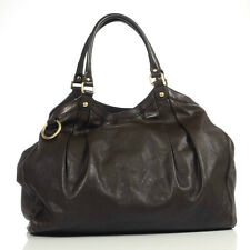 Authentic Gucci Brown Leather Large Sukey Hobo Bag