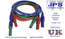 Test Leads for Fluke 1653 1652 1651 Multifunction Testers Red Blue Green JPSS048