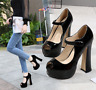 Platform Women Buckle Peep Toe Shoes Super High Heels Sandals Ankle Strap Pumps