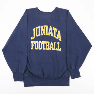 Vintage CHAMPION Reverse Weave USA College Blue 90s Crew Neck Sweatshirt Mens XL