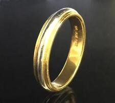 Platinum and 18 Karat Yellow Gold Domed Wedding Band, Men's, size 10