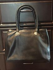 Cole Haan Large Benson Tote Black Pebbled Leather