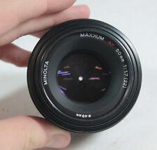 Minolta Maxxum 50mm 1:1.7 (22) Camera Lens 49mm Diameter #22228419