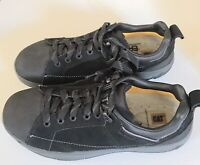 CAT Mens Sz 8-1/2 Steel Toe Black Safety Shoes F2413-11.New