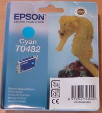 GENUINE EPSON T0482 TO482 Cyan (blue) cartridge ORIGINAL SEAHORSE OEM ink