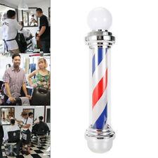 "32"" Rotating Barber Pole Light Led Light Salon Sign Lamp Red &Blue & White Usa"