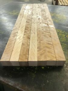 """*PREMIUM* 1-3/4"""" x 1-3/4"""" x 18"""" Flame Curly Yellow BIRCH Square S4S Cue Blanks"""