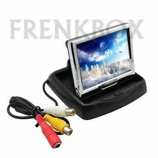 "mini monitor LCD 3,5"" richiudibile con 2 ingressi video AV1 AV2 12v + cavo 5 mt"
