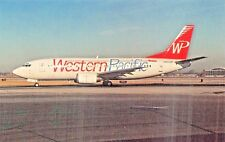 Western Pacific B-737-300  Airplane Postcard