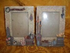 """Set of 2 Gardener's Paradise Photo Frames, 6 1/2"""" x 5"""""""