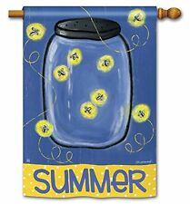 "Summertime Fireflies Summer 28"" x 40"" Outdoor Decorative House Flag"
