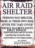 AIR RAID SHELTER METAL SIGN RETRO VINTAGE STYLE SMALL