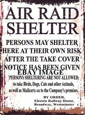 AIR RAID SHELTER METAL SIGN RETRO VINTAGE STYLE SMALL