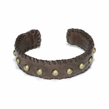 Dogeared Cuff Love/Studded Leather in Chocolate NEW!!