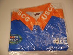 Coast Guard NASCAR XL Short Sleeve Mechanic Shirt Motorsport Harvick Labonte