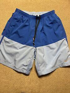 Men's Nike Blue Lined Briefs Running Shorts Medium M
