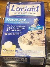 LACTAID Fast Act Chewables Vanilla Twist 60 Tablets 03/2022