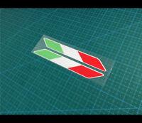 Pair of Italy Flag DUCATI Motorcycle Moto GP Fuel tank helmet Reflective sticker