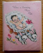 Vintage 1950s Baby Announcement Cards 6 Announcing The New Arrival by Greetings