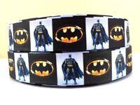 BATMAN BLACK WHITE 22MM Grosgrain Ribbon Craft Sewing Metre Yard Movie RB83