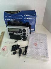 Midland ER102 Emergency Survival Radio Weather Alert AM/FM NO AC ADAPTER