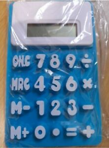 Blue Calculator Flexible Great For Kids School Large Buttons blue 💙 new