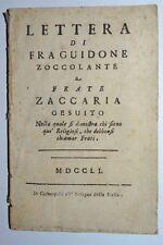 GESUITI - ediz. 1751 - cosmopoli - raro - fra guidone - lettera