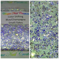 Small Flake Color Shifting Champ/Blu~Nail•Acrylic•Gel•Body Art•Face•Festival