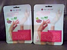 Nu Pore Moisturizing Gloves Jojoba Oil & Aloe Vera-Set of Two Packs