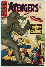 Avengers #37 7.0 FN/VF Ultroids Marvel Comics Silver Age To Conquer A Colossus