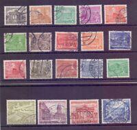 Berlin 1949 - Berliner Bauten - MiNr 42/60 rund gestempelt- Michel 50,00 € (553)