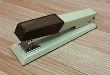 Vintage Bates 640 Custom 26 / 6 Tan & Brown Desktop Stapler Only *U.S.A.*