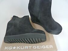 KG WEDGE BOOTS / RRP £160 / SUEDE / CONCEALED HEEL .. UK 7   EU 40  KURT GEIGER