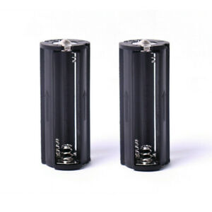 Cylindrical 3 AAA Plastic Battery Holder Adapter Case For Flashlight Lamps