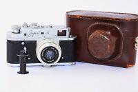 RARE 1973 Zorki-4 Soviet Rangefinder Film Camera copy Leica w/s lens Industar-50