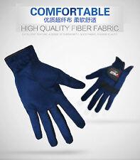 1pc Men's Dark Blue Soft Golf Glove Gloves Microfiber Fabric Fashion Comfortable