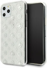 Genuine Guess Glitter 4G Peony Case Cover for Apple iPhone 11 in Silver