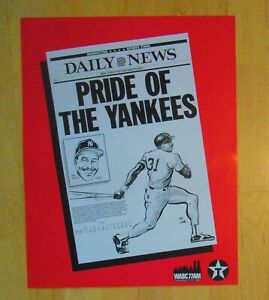 Dave Winfield Daily News Pride of The Yankees Cardboard Poster Gallo caricature